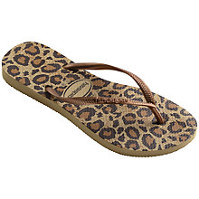 Buy Havaianas Animal Print Flip-Flops Online at johnlewis.com