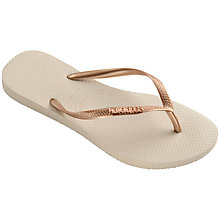 Buy Havaianas Metallic Rubber Flip Flops Online at johnlewis.com