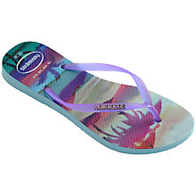 Buy Havaianas Paisage Flip-Flops, Purple Online at johnlewis.com