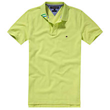 Buy Tommy Hilfiger Slim Fit Short Sleeved Polo Shirt Online at johnlewis.com