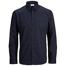 Buy Selected Homme Joe Patterned Shirt, Navy Blazer Online at johnlewis.com