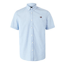 Buy Fred Perry Polka Dot Short Sleeve Shirt, Turquoise Online at johnlewis.com
