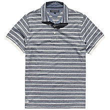 Buy Tommy Hilfiger Addison Stripe Polo Shirt, Grey Online at johnlewis.com