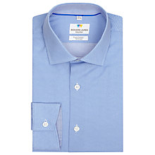 Buy Richard James Mayfair Austin Micro Diamond Shirt, Blue Online at johnlewis.com