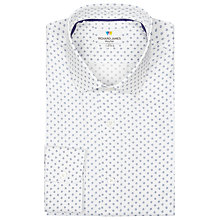 Buy Richard James Mayfair Floral Print Shirt, White Online at johnlewis.com