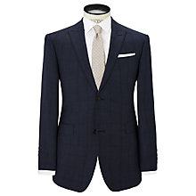 Buy Richard James Mayfair Overcheck Suit Jacket, Navy Online at johnlewis.com