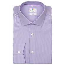 Buy Richard James Mayfair Austin Fine Stripe Shirt, Lilac Online at johnlewis.com