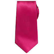 Buy Richard James Mayfair Plain Silk Tie, Bright Pink Online at johnlewis.com