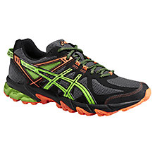 Buy Asics Gel-Sonoma Men's Trail Running Shoes, Onyx/Flash Green Online at johnlewis.com
