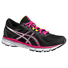 Buy Asics Gel-Xalion Women's Running Shoes, Onyx/White/Hot Pink Online at johnlewis.com