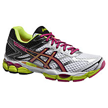 Buy Asics Gel-Cumulus 16 Women's Running Shoes, White/Hot Pink Online at johnlewis.com