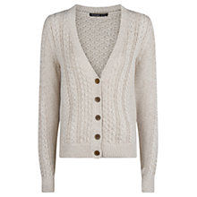 Buy Mango Cable Knit Cardigan, Light Beige Online at johnlewis.com
