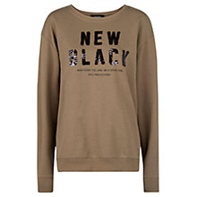 Buy Mango Round Neck Sequin Sweatshirt, Medium Beige Online at johnlewis.com