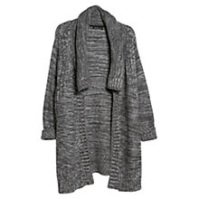 Buy Mango Flecked Mohair Blend Cardigan, Dark Grey Online at johnlewis.com