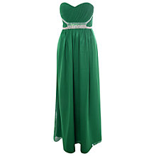 Buy True Decadence Ruched Embellished Maxi Dress, Green Online at johnlewis.com