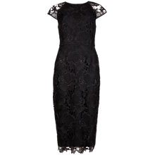 Buy Ted Baker Lace Fitted Dress, Black Online at johnlewis.com