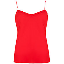 Buy Ted Baker Scallop Detailed Camisole Top, Light Red Online at johnlewis.com