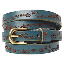 Buy White Stuff Daisy Chain Leather Belt, Hummingbird Online at johnlewis.com