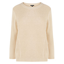 Buy Warehouse Mini Boucle Front Jumper, Camel Online at johnlewis.com