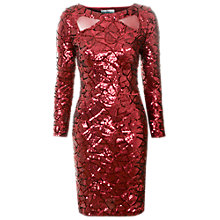 Buy True Decadence Sequin Midi Dress, Burgundy Online at johnlewis.com