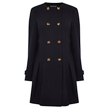 Buy Warehouse Dropped Waist Coat, Navy Online at johnlewis.com