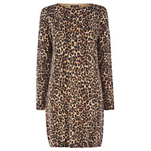 Buy Warehouse Animal Shift Dress, Camel Online at johnlewis.com