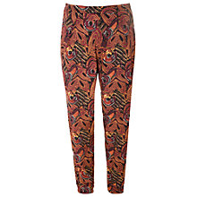 Buy True Decadence Mustard Print Trousers, Maroon/mustard Online at johnlewis.com