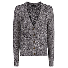 Buy Mango Cable Knit Cardigan, Dark Blue Online at johnlewis.com