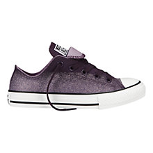Buy Converse All Star Double Tongue Low-Top Trainers, Elderberry Online at johnlewis.com