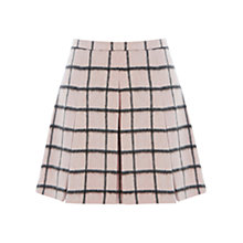 Buy Warehouse Brushed Check Skirt, Pink Online at johnlewis.com