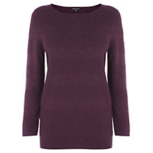 Buy Warehouse Textured Stripe Jumper, Dark Purple Online at johnlewis.com