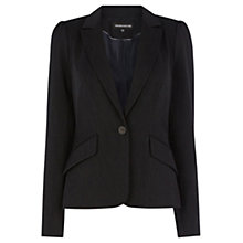 Buy Warehouse Mini Pinstripe Jacket, Navy Online at johnlewis.com