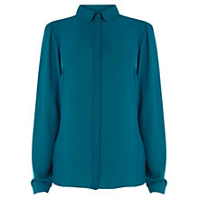 Buy Warehouse Twist Back Shirt, Teal Online at johnlewis.com