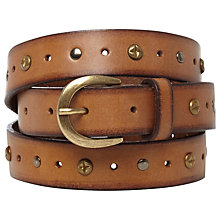 Buy White Stuff Battered Stud Belt, Hummingbird Online at johnlewis.com