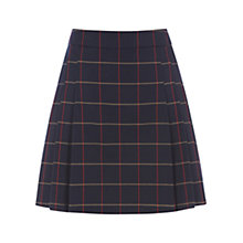 Buy Warehouse Window Pane Print Skirt, Navy Online at johnlewis.com