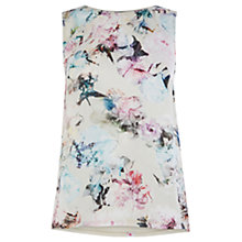 Buy Warehouse Crystal Floral Top, Cream Online at johnlewis.com