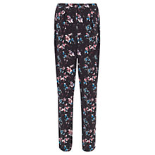 Buy Warehouse Displaced Floral Trousers, Black Pattern Online at johnlewis.com