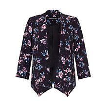 Buy Warehouse Displaced Floral Jacket, Grey Pattern Online at johnlewis.com