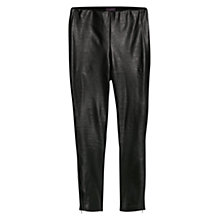 Buy Violeta by Mango Faux Leather Contrast Leggings, Black Online at johnlewis.com