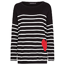 Buy Sugarhill Boutique Saskia Sweatshirt, Black/White Online at johnlewis.com
