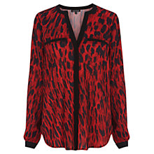 Buy Warehouse Animal Print Blouse, Red Pattern Online at johnlewis.com