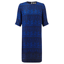Buy Jigsaw William Morris Print Silk Dress, Blue Online at johnlewis.com