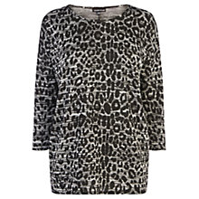 Buy Warehouse Animal Jacquard Top, Grey Pattern Online at johnlewis.com