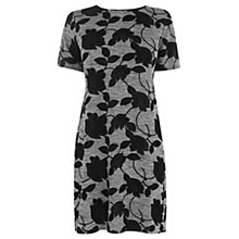 Buy Warehouse Flocked Marl Tunic Dress, Light Grey Online at johnlewis.com