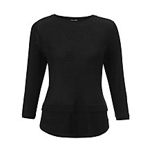 Buy Jigsaw Rib T-shirt, Black Online at johnlewis.com