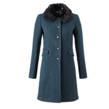 Buy Jigsaw Winter Herringbone Princess Coat, Teal Online at johnlewis.com