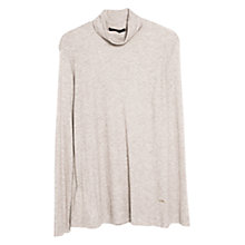 Buy Violeta by Mango Wool Blend Stand Collar T-Shirt Online at johnlewis.com