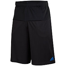 Buy Adidas Infinite Series Shorts, Black/Bright Royal Online at johnlewis.com