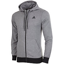 Buy Adidas Essential Prime Full Zip Hoodie, Grey Online at johnlewis.com