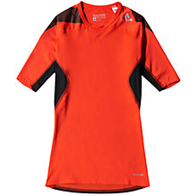Buy Adidas Techfit Climacool Short Sleeve Top Online at johnlewis.com
